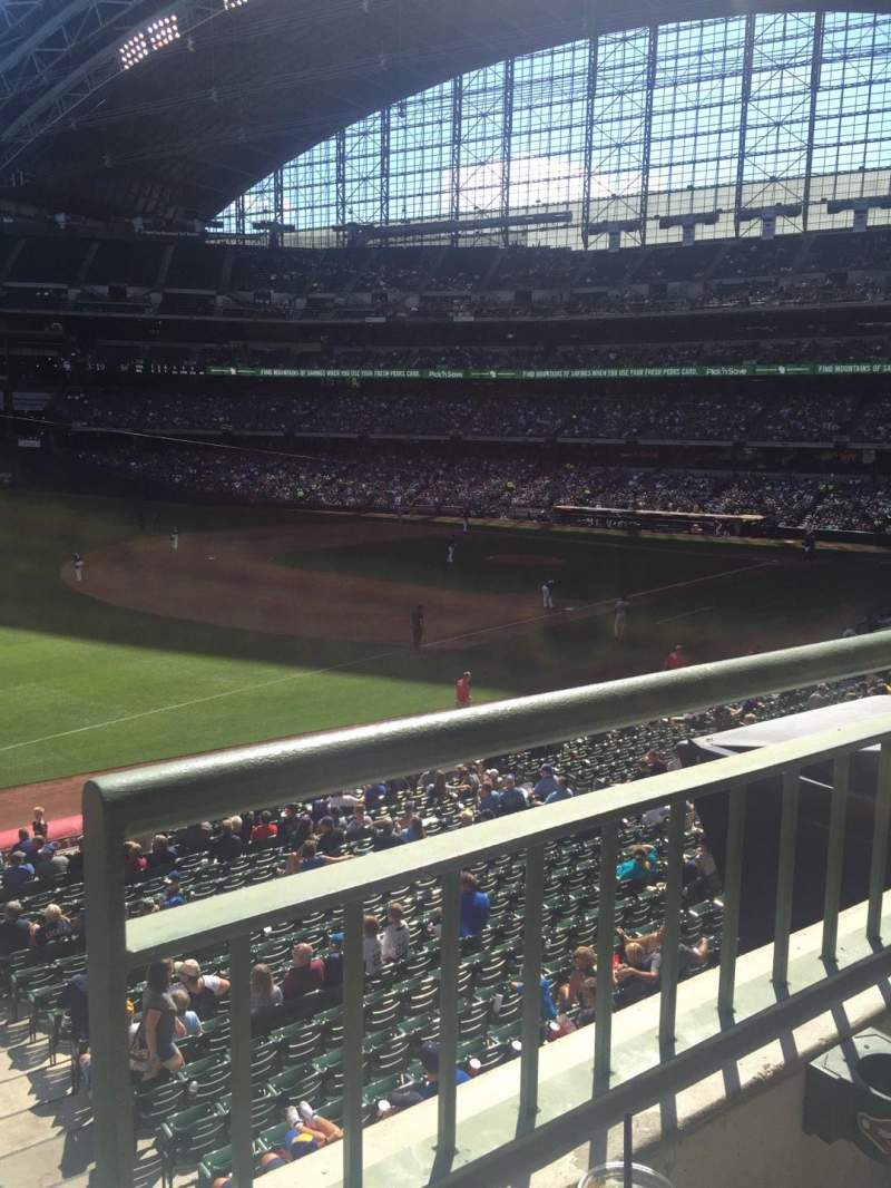 Seating view for Miller Park Section 229 Row 1 Seat 5
