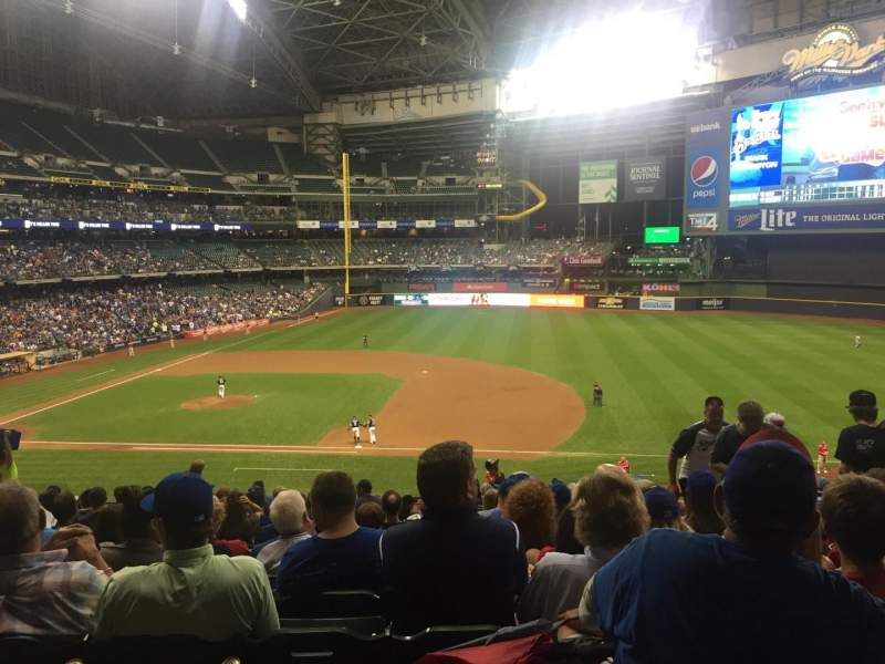 Seating view for Miller Park Section 212 Row 15 Seat 14