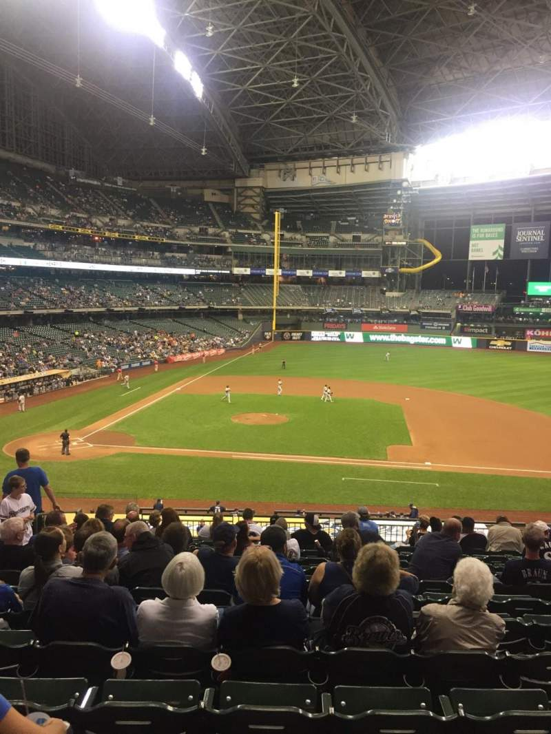 Seating view for Miller Park Section 213 Row 13 Seat 6