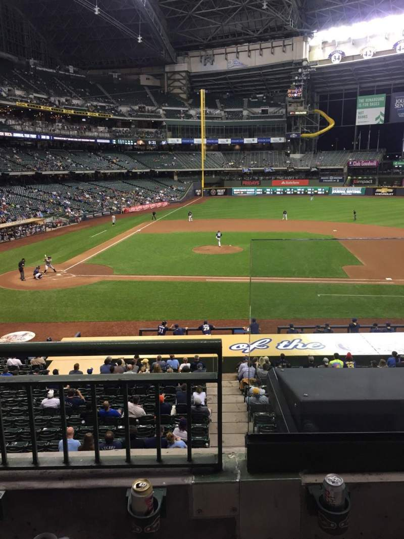Seating view for Miller Park Section 214 Row 2 Seat 18