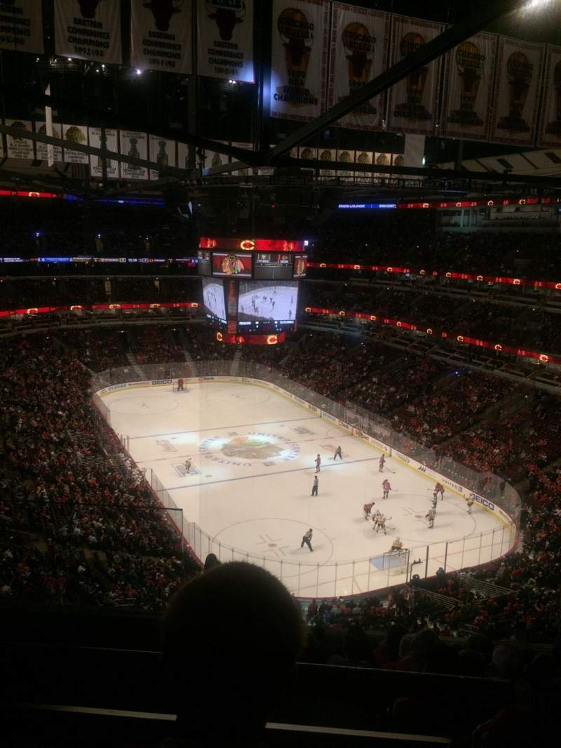Seating view for United Center Section 329 Row 10 Seat 19