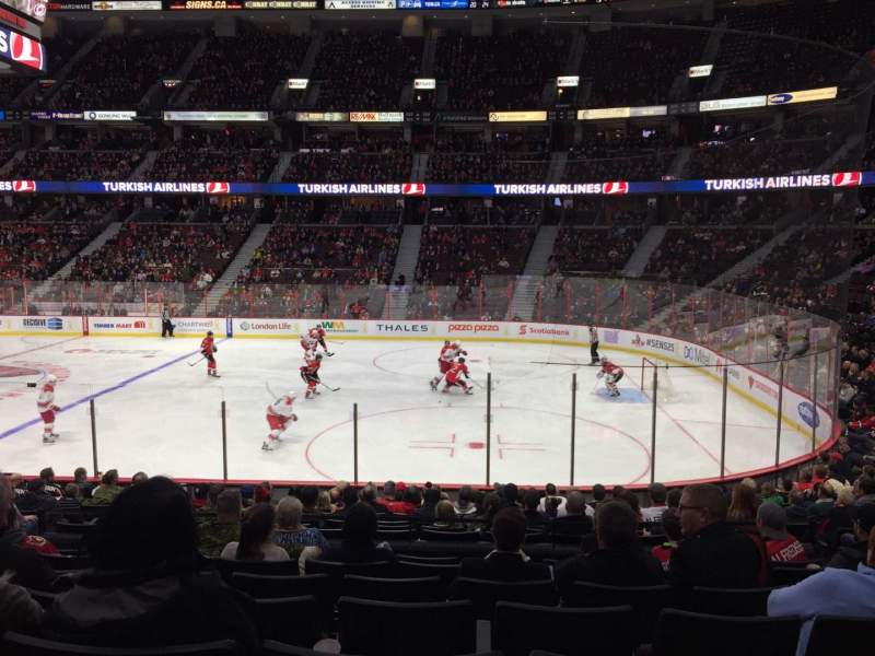 Seating view for Canadian Tire Centre Section 103 Row P Seat 9