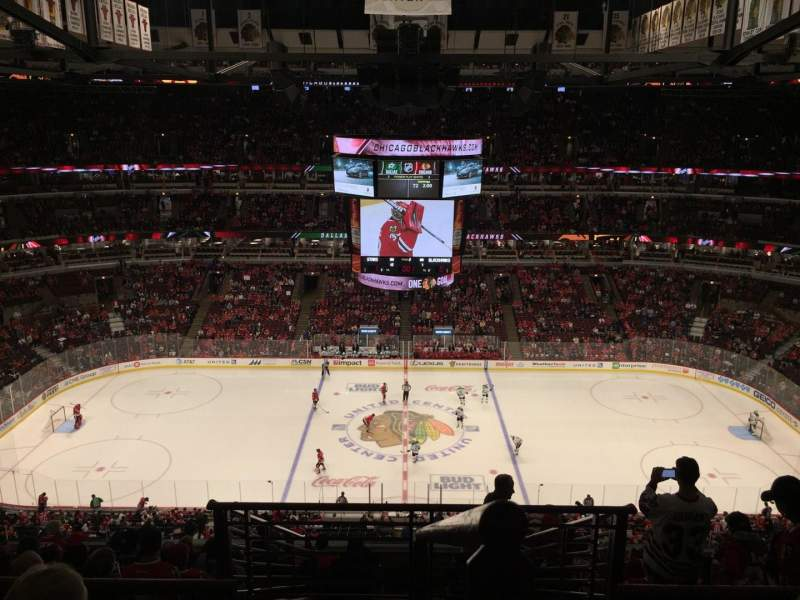 Seating view for United Center Section 318 Row 11 Seat 1