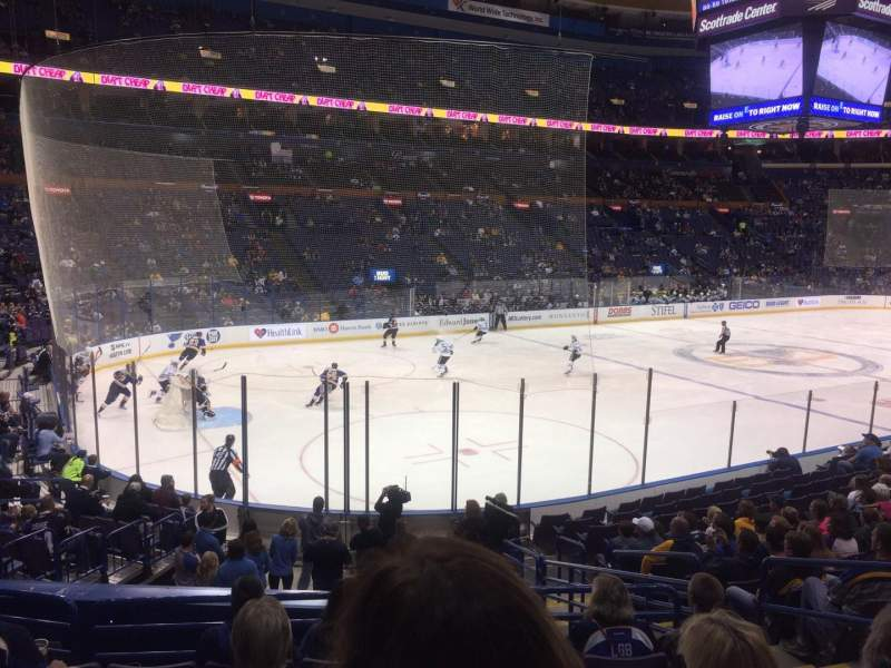 Seating view for Scottrade Center Section 119 Row R Seat 4
