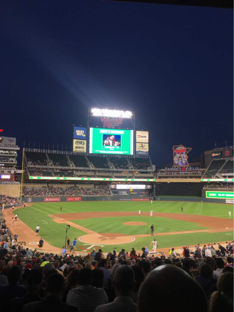 Seating view for Target Field Section 112 Row 20 Seat 10