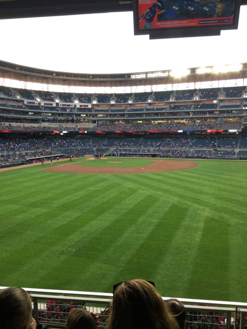 Seating view for Target Field Section 134 Row 4 Seat 5