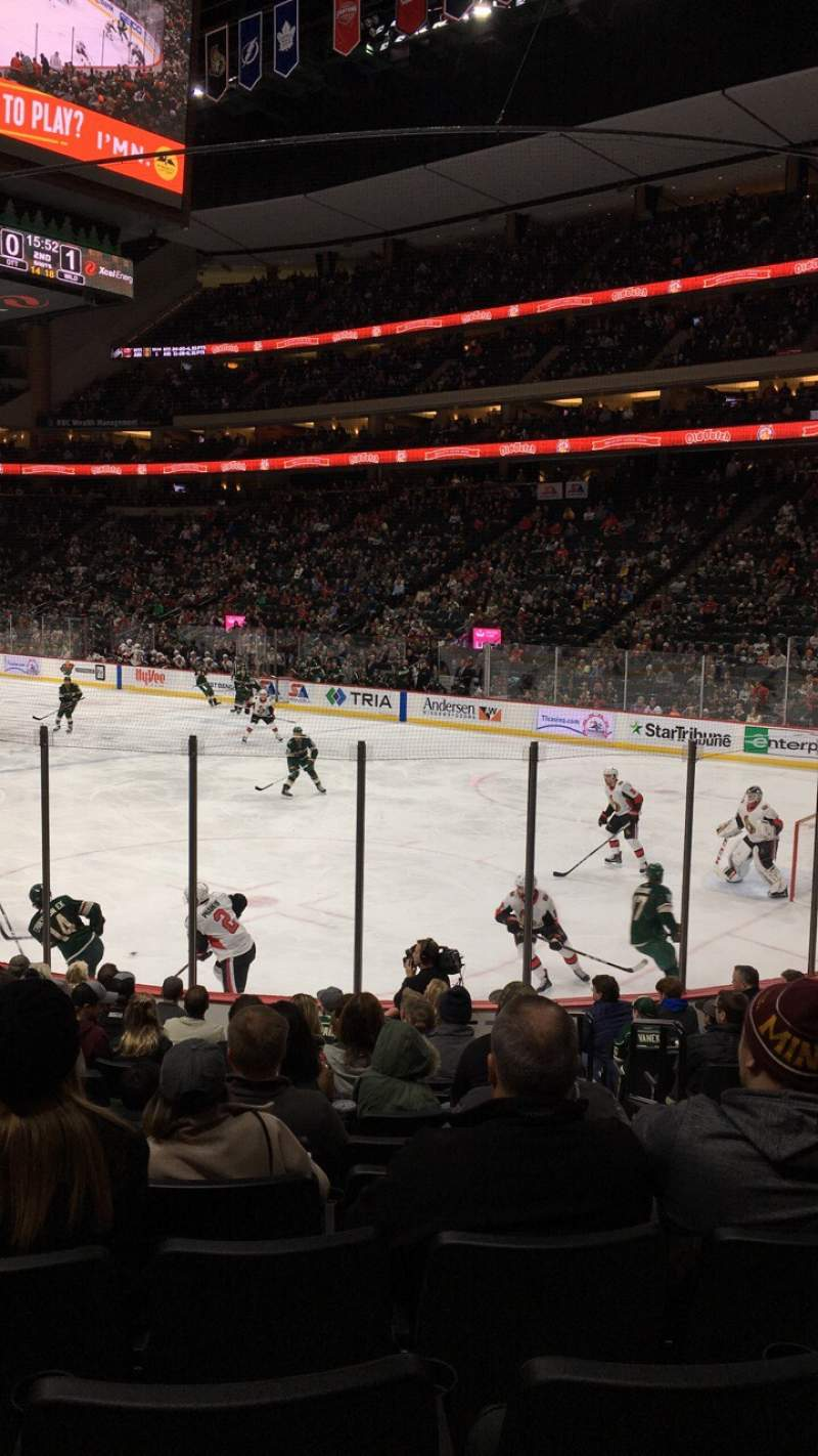 Seating view for Xcel Energy Center Section 126 Row 13 Seat 4