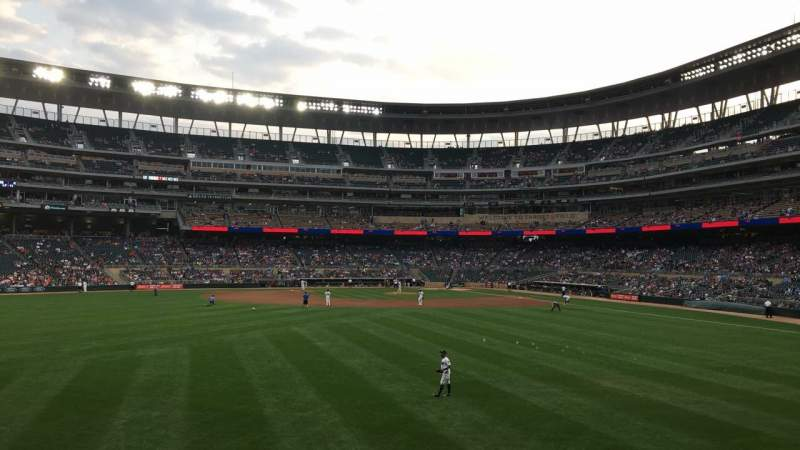 Seating view for Target Field Section 131 Row 5 Seat 1
