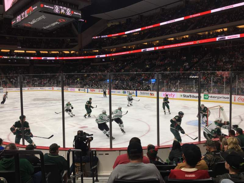 Seating view for Xcel Energy Center Section 125 Row 8 Seat 10