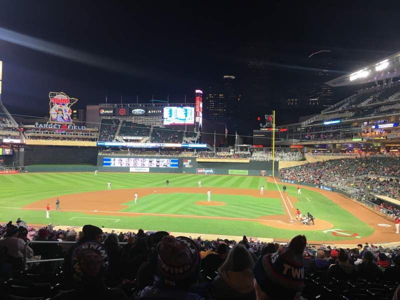 Seating view for Target Field Section 118 Row 21 Seat 14