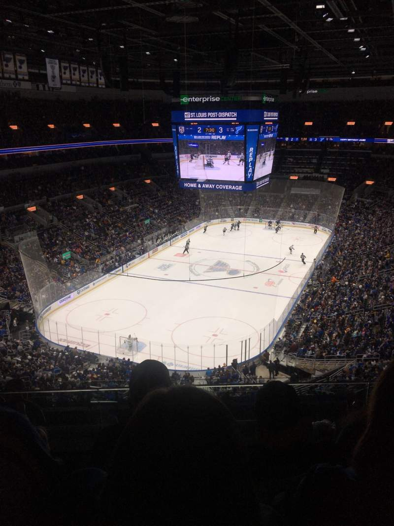 Seating view for Enterprise Center Section 326 Row J Seat 19