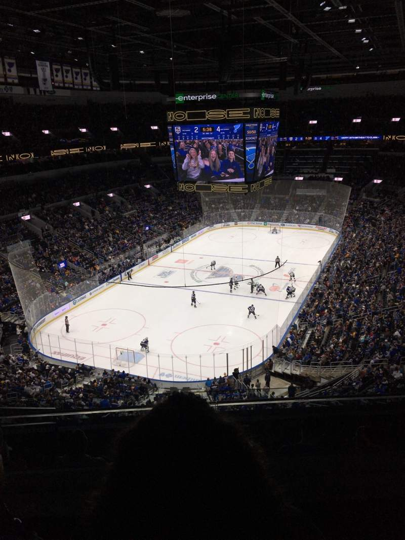Seating view for Enterprise Center Section 326 Row I Seat 16
