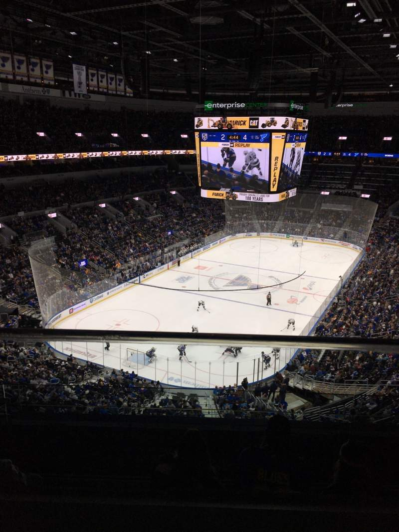Seating view for Enterprise Center Section 326 Row H Seat 12