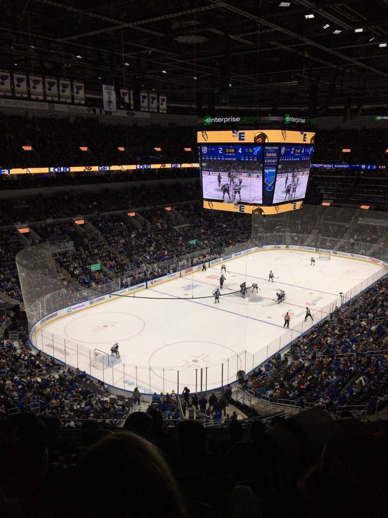 Seating view for Enterprise Center Section 325 Row G Seat 12