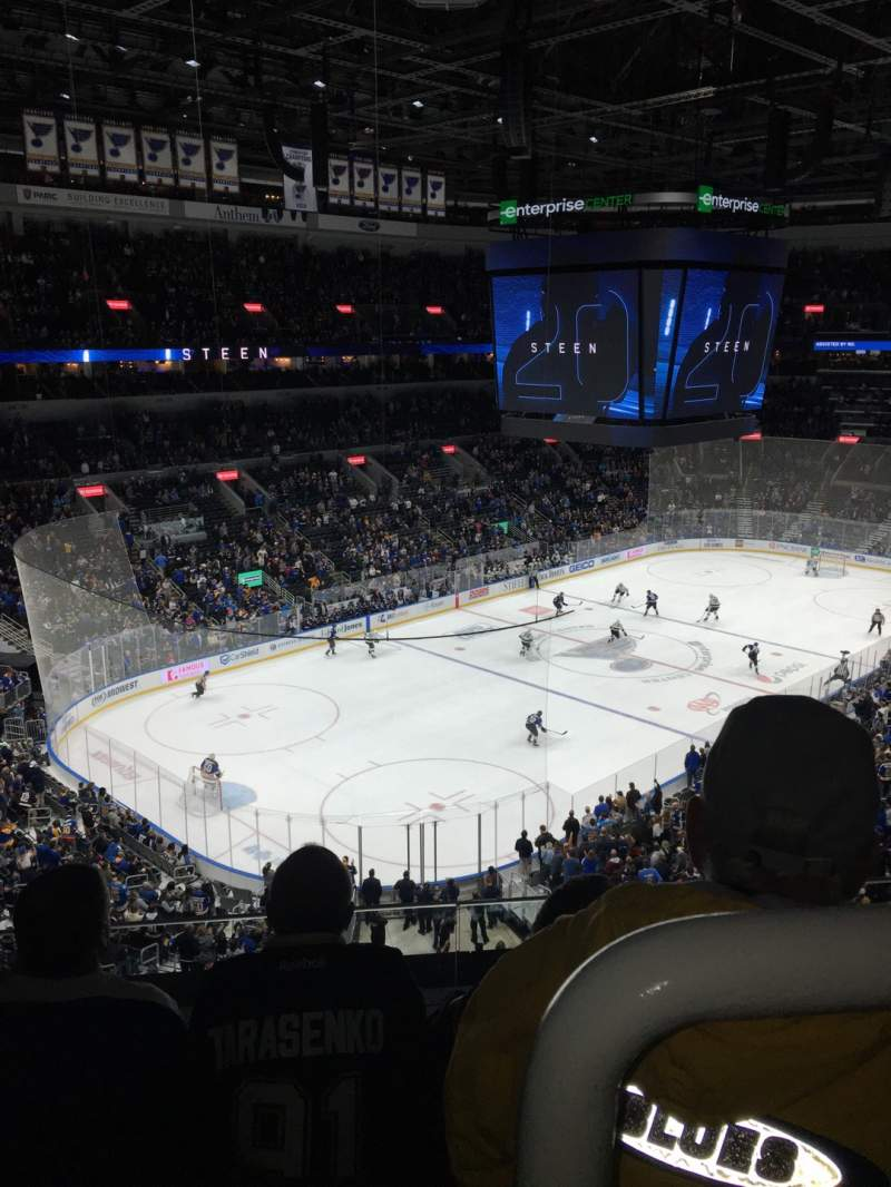 Seating view for Enterprise Center Section 325 Row C Seat 1