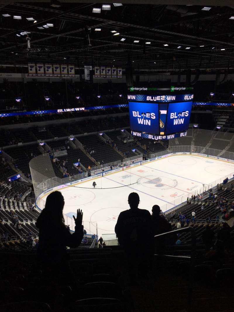 Seating view for Enterprise Center Section 325 Row Q Seat 1