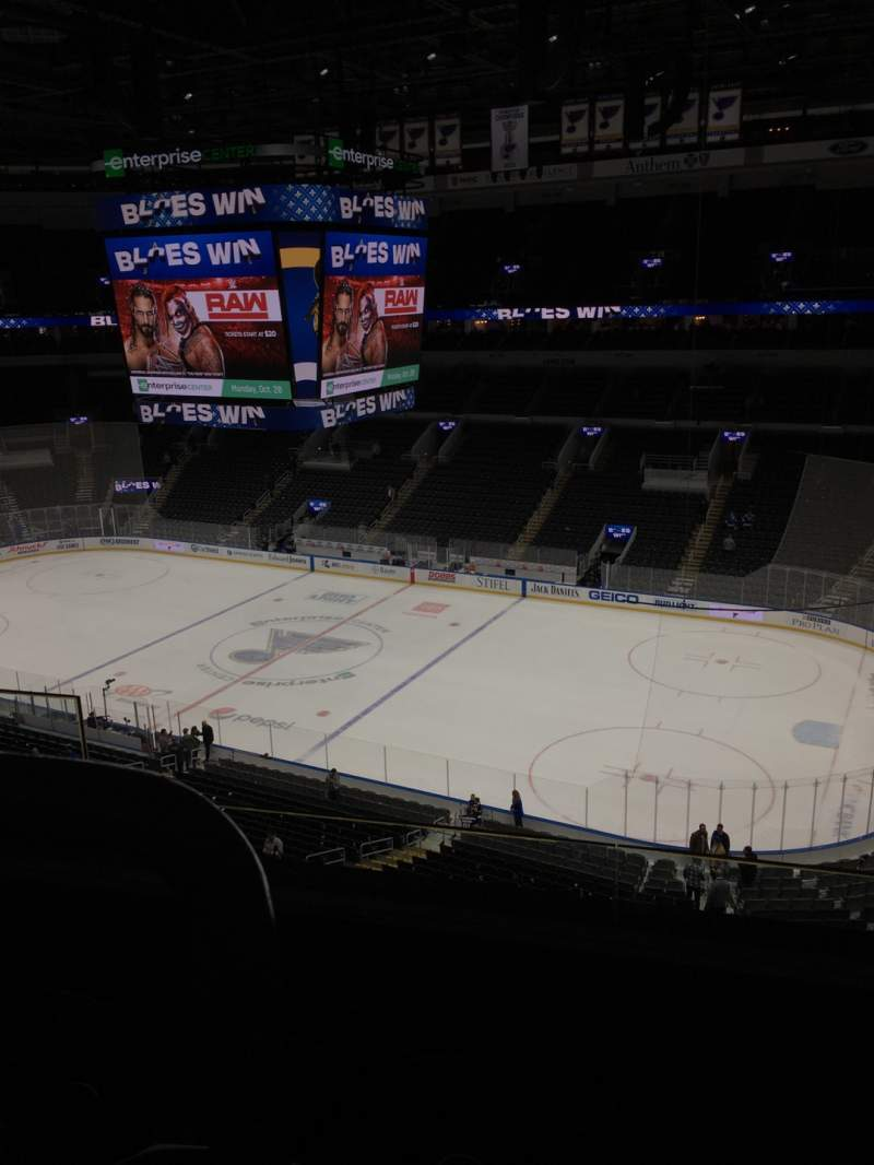 Seating view for Enterprise Center Section 317 Row C Seat 8