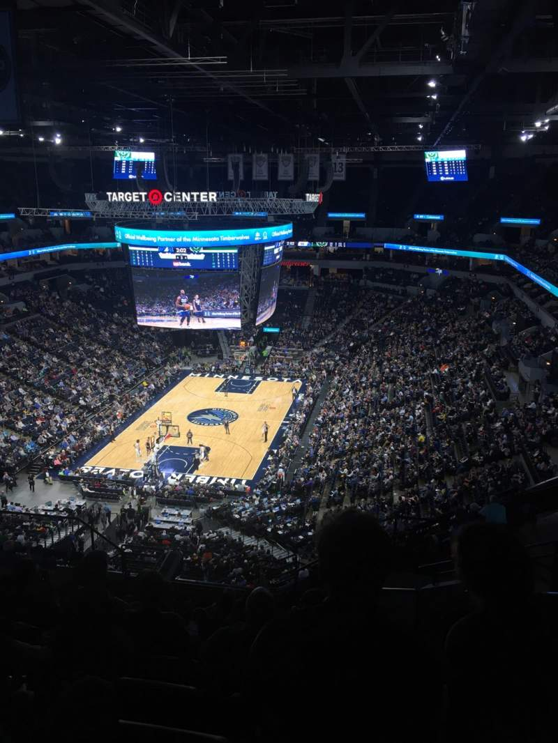 Seating view for Target Center Section 239 Row Q Seat 4