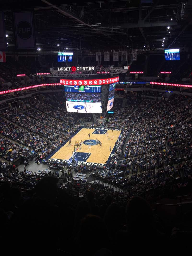 Seating view for Target Center Section 239 Row T Seat 6