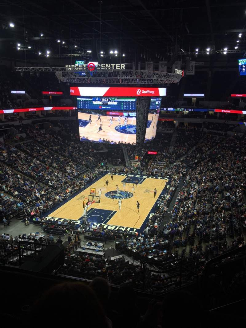 Seating view for Target Center Section 239 Row H Seat 2