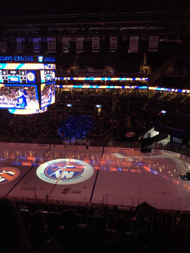 Seating view for Barclays Center Section 206 Row 6 Seat 12