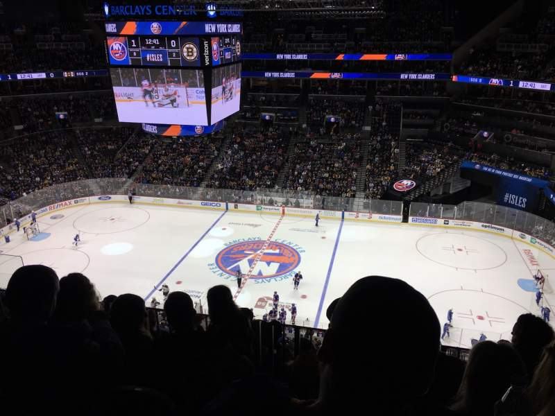 Seating view for Barclays Center Section 206 Row 6 Seat 14