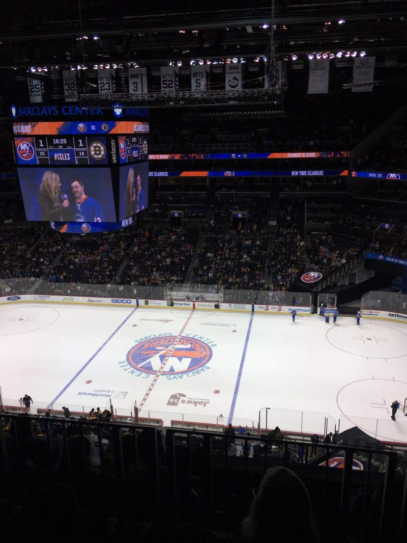 Seating view for Barclays Center Section 206 Row 5 Seat 14