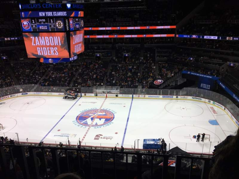 Seating view for Barclays Center Section 206 Row 4 Seat 13