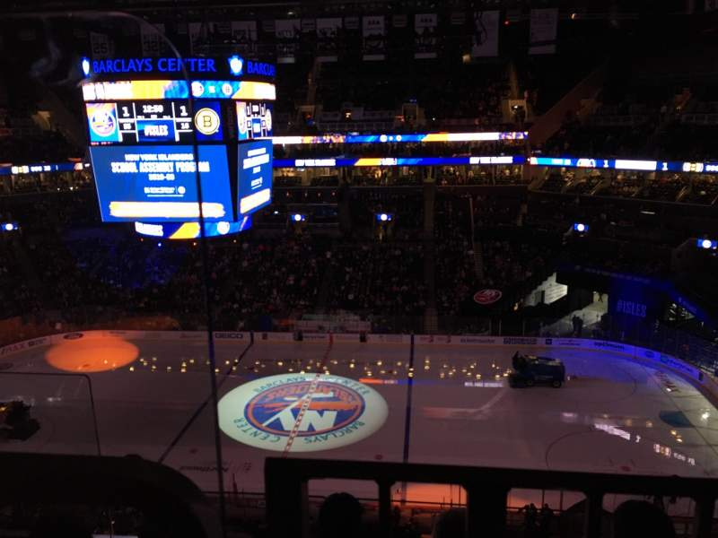 Seating view for Barclays Center Section 206 Row 3 Seat 20