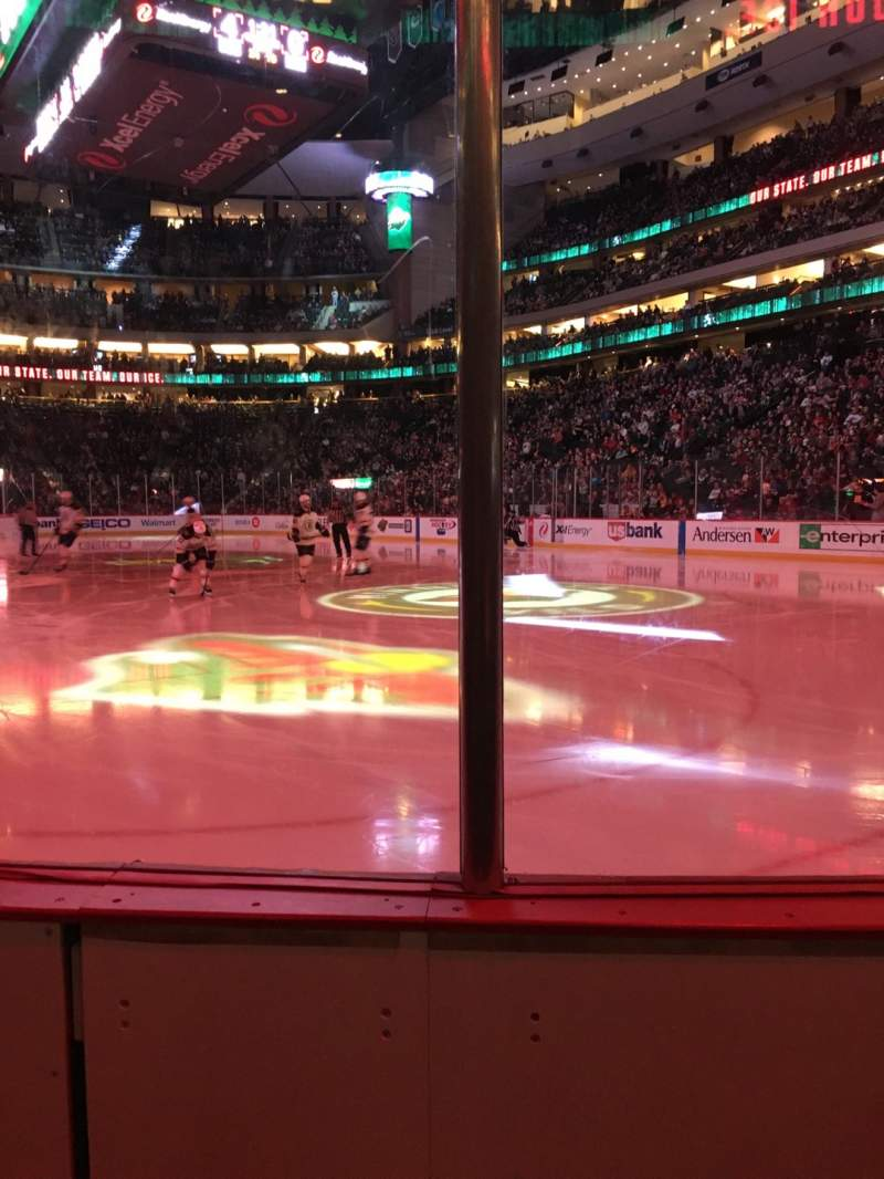 Seating view for Xcel Energy Center Section 112 Row 2 Seat 5