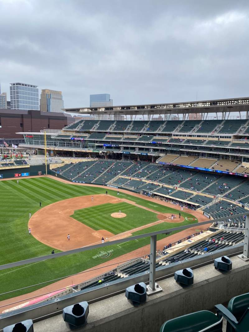 Seating view for Target Field Section 324 Row 2 Seat 13