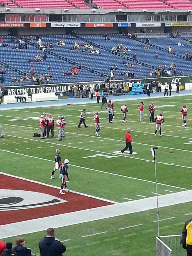 Seating view for Nissan Stadium Section 118 Row Y Seat 9