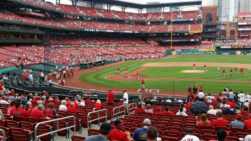 Seating view for Busch Stadium Section 145 Row 20 Seat 6