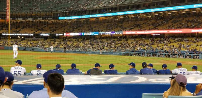 Seating view for Dodger Stadium Section 21FD Row A Seat 7