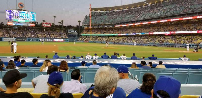 Seating view for Dodger Stadium Section 21FD Row E Seat 5