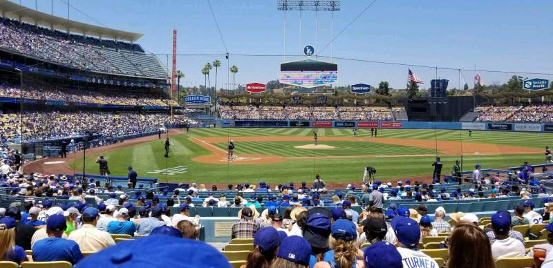 Seating view for Dodger Stadium Section 8FD Row P Seat 1