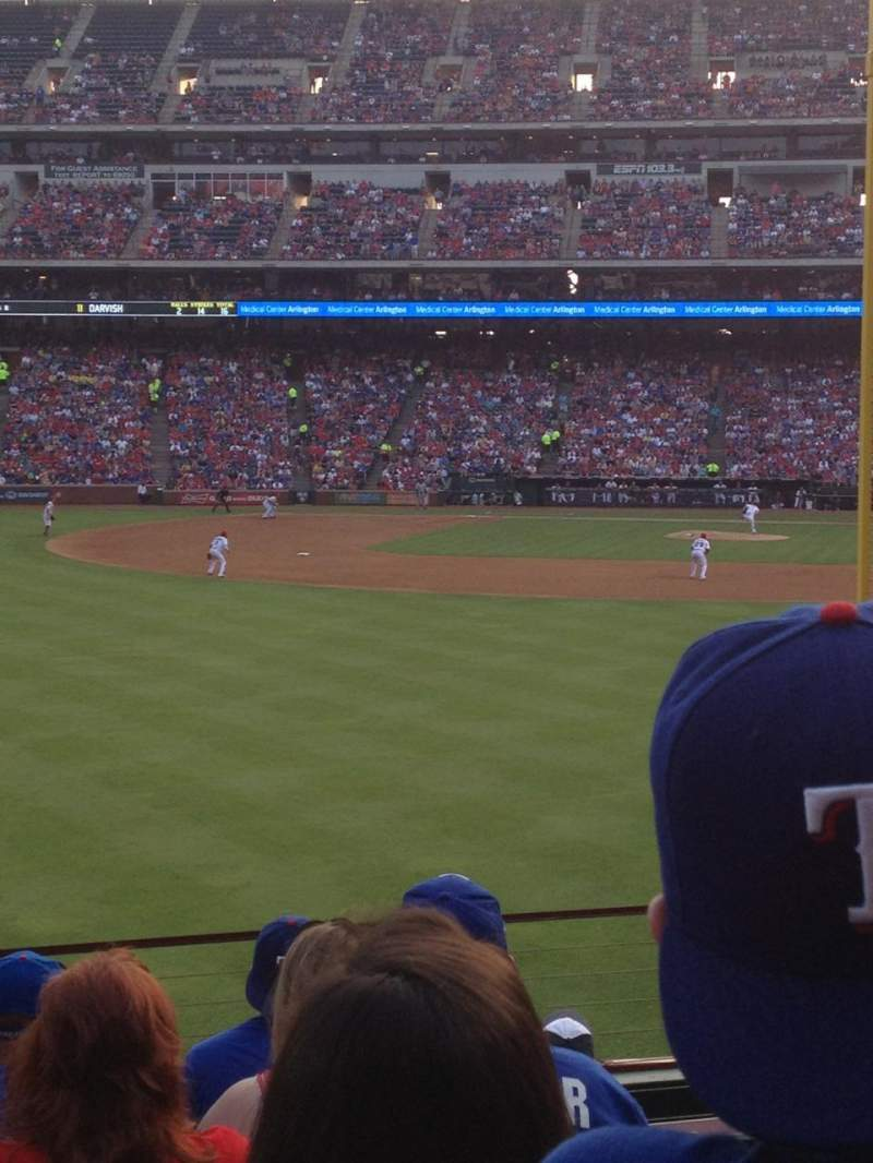 Seating view for Globe Life Park in Arlington Section 9 Row 8 Seat 2