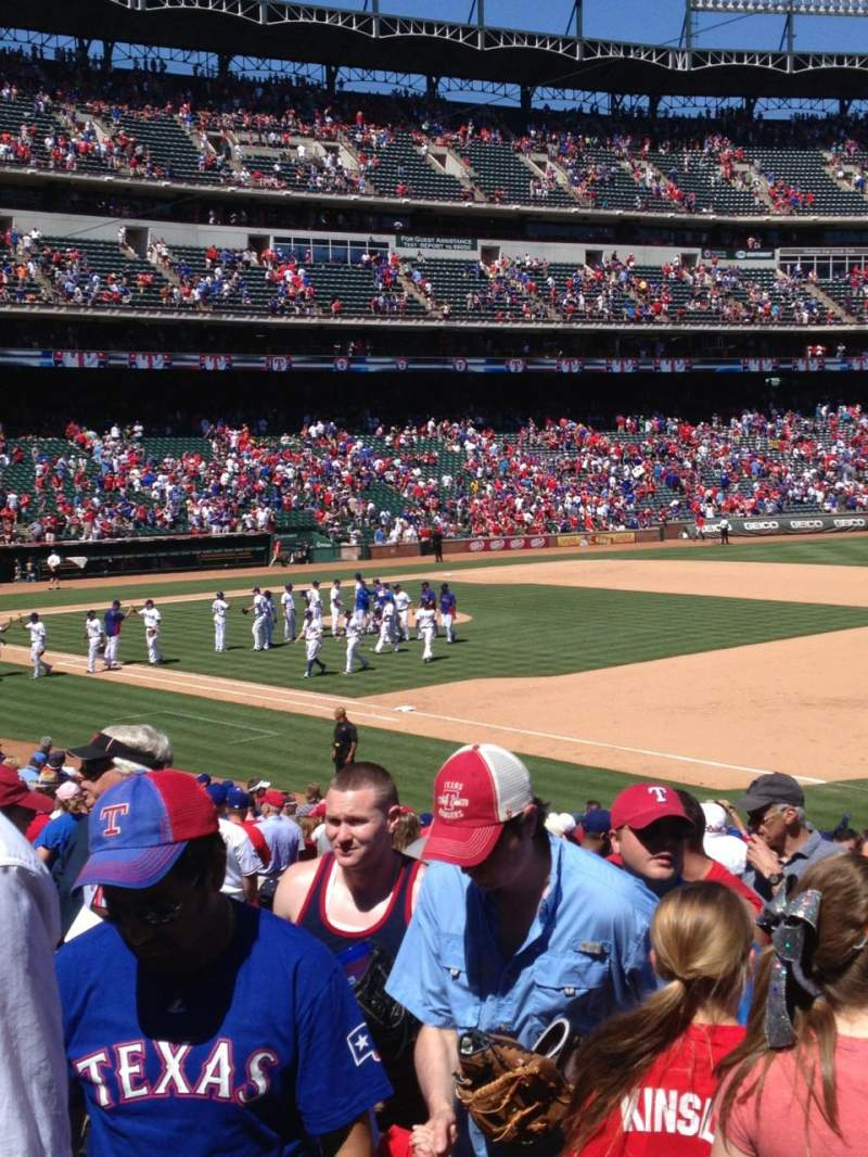 Seating view for Globe Life Park in Arlington Section 37 Row 22 Seat 3