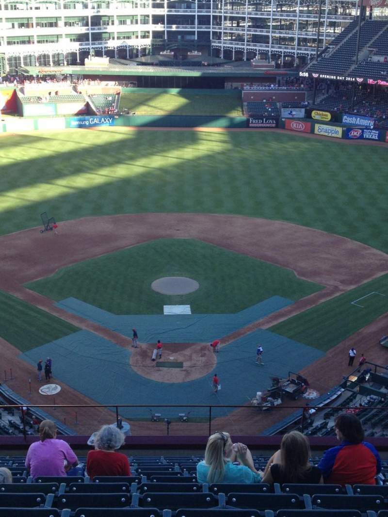 Seating view for Globe Life Park in Arlington Section 326 Row 14 Seat 14