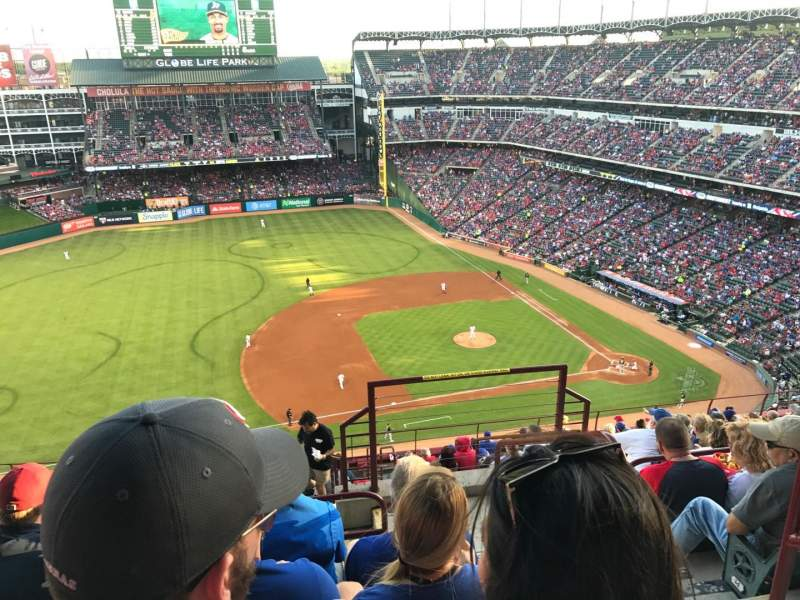 Seating view for Globe Life Park in Arlington Section 317 Row 17 Seat 16