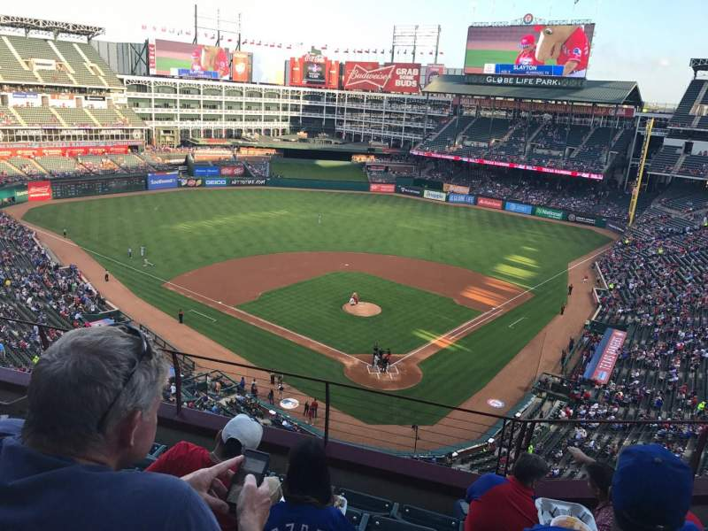 Seating view for Globe Life Park in Arlington Section 325 Row 6 Seat 7