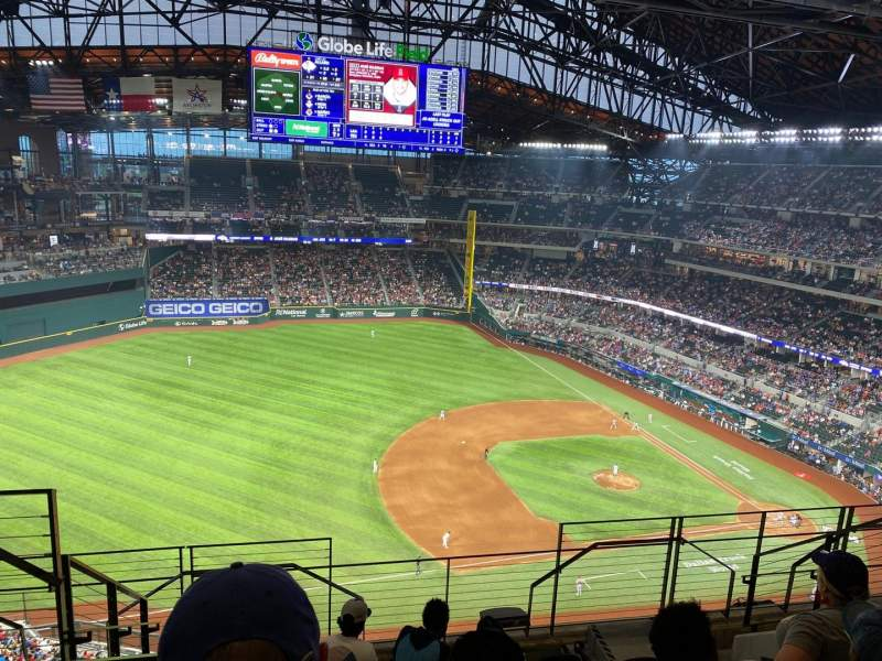 Seating view for Globe Life Field Section 305 Row 7 Seat 3
