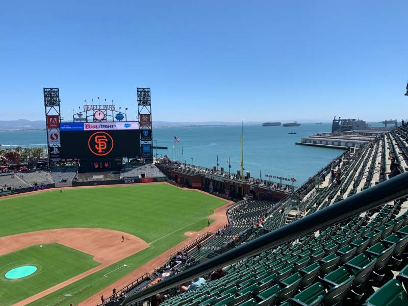 Seating view for Oracle Park Section VR313 Row 12 Seat 1