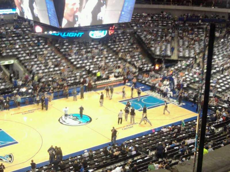 Seating view for American Airlines Center Section 328 Row 1