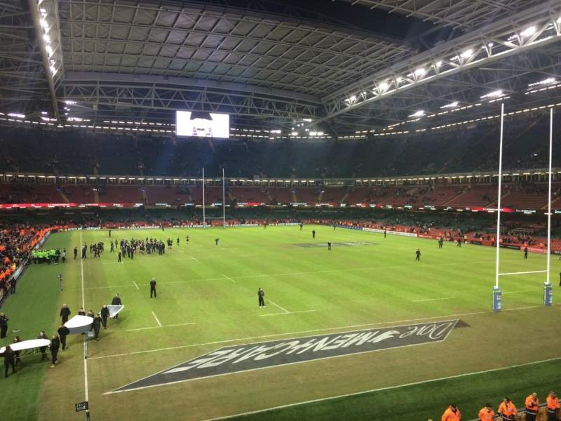 Seating view for Principality Stadium Section M1 Row 5 Seat 5