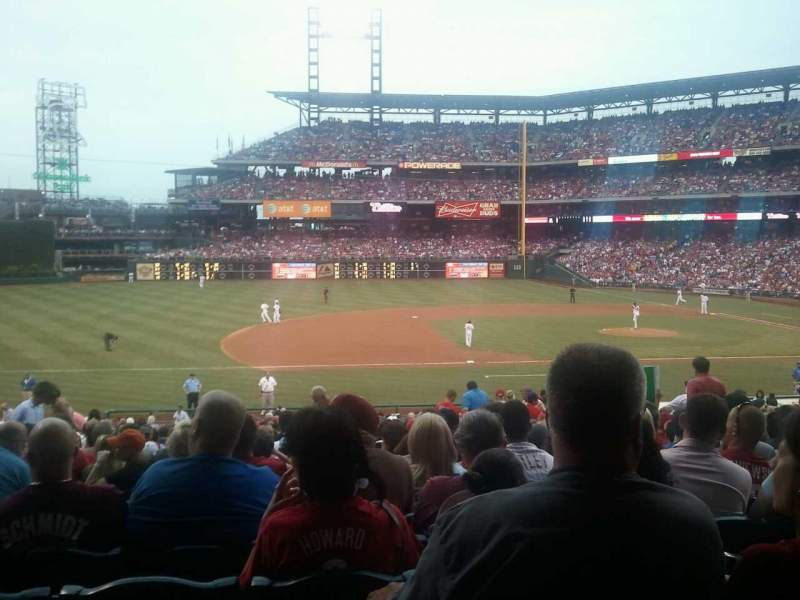 Seating view for Citizens Bank Park Section 132 Row 30 Seat 9