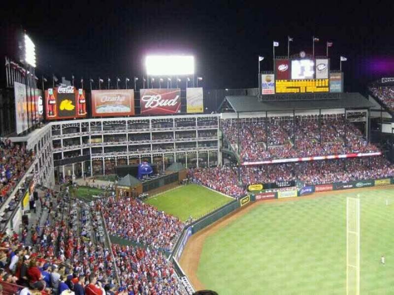 Seating view for Globe Life Park in Arlington Section 308