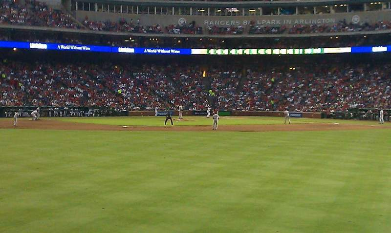Seating view for Globe Life Park in Arlington Section centerfield bleachers Row 3