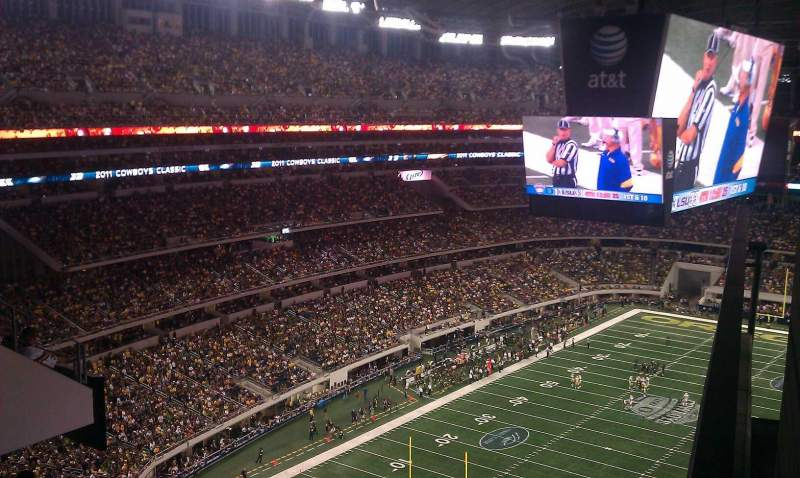 Seating view for AT&T Stadium Section party pass Row level Seat 3