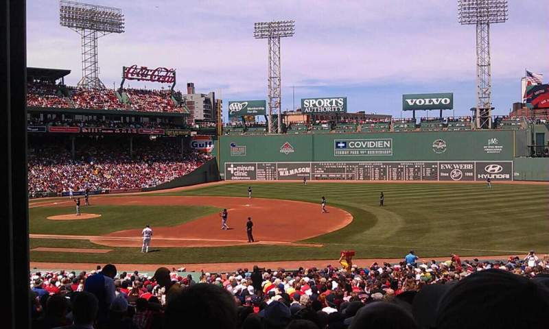 Seating view for Fenway Park Section Grandstand 13 Row 2 Seat 19